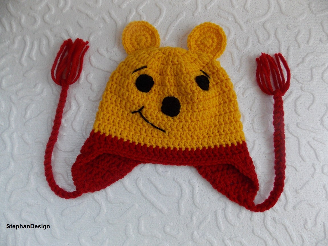 Crochet Pooh Bear Hat Pattern : Crochet Winnie the Pooh hat-Winnie the pooh hat by ...