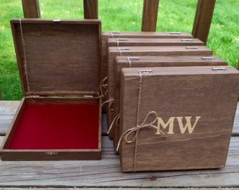 Groomsmen Gift, Groomsman Gift, Set of 8, Rustic Cigar Boxes, Cigar Box, Wood Cigar Box, Personalized Cigar Box, Bridal Party Gifts