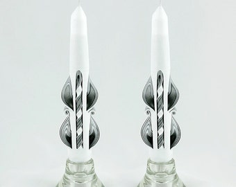 Taper Candles - White Candles - Black Taper Candles
