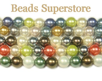 SALE CLOSEOUT GENUINE 10 mm Mother of Pearl Round Bead Mix - 20 pcs