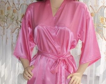 Charmeuse  robe,Bridal party robes, getting ready robe, kimono robe, bridesmaid robe,wedding robe,lounging robe