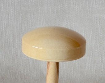 Pillbox Hat Block CLAIRE - 13cm in diameter 5cm tall - Pillbox Fascinator Hat Block - Wood Hat Block