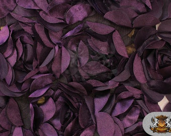 """Satin Rose Boardeux Fabric PLUM / 55"""" Wide / Sold by the yard"""