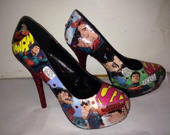 Custom made superman shoes