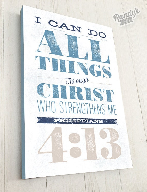 Personalized Bible Verse On Canvas Philippians By Randysdesign