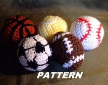PATTERN Sport Balls Crochet