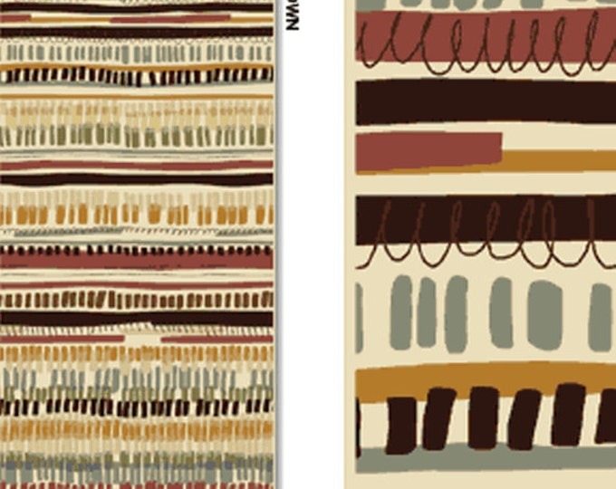 SUPER CLEARANCE!! One Yard Leaf Haven - Weave Stripe in Vanilla - Cotton Quilt Fabric - by Michele D'Amore - Benartex Fabrics (W718)