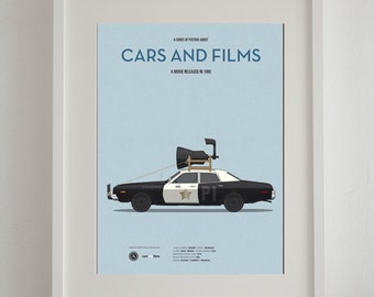 Blues Brothers car movie poster, art print A3 Cars And Films, home decor prints, illustration print