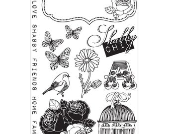 "Prima Marketing Lady Bird Cling Stamps 4""X6"" - 10 Images"