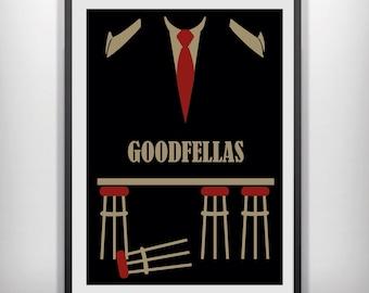 Goodfellas minimal minimalist movie film print poster art