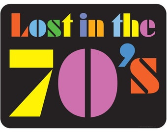 Lost In The 70s Funky Stencil Wall Decal #47727