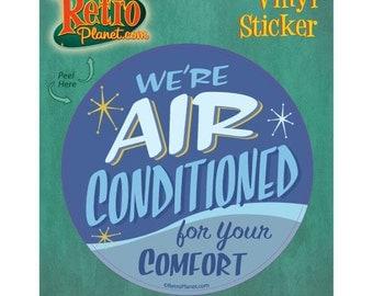 Air Conditioned Comfort Vinyl Sticker #42552