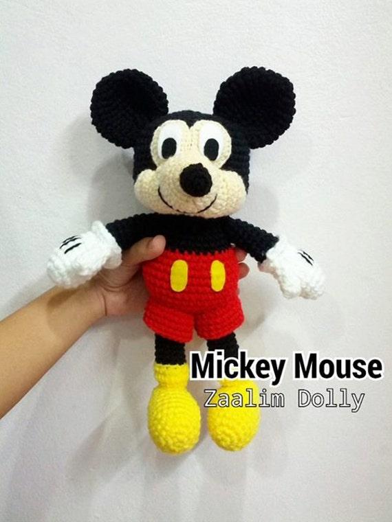 Mickey Mouse Amigurumi Mercadolibre : Items similar to Amigurumi Crochet Dolls : Mickey Mouse 12 ...