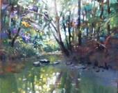 Rhythm of the stream, Original pastel painting