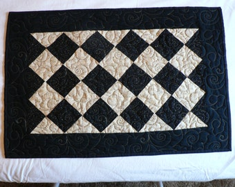 Black and Gold Table Runner