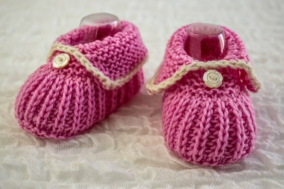 KNITTING PATTERN PDF Baby Girl Newborn Booties Cute Baby