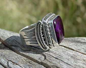 Sugilite and Sterling Silver Ring ... Made to Order