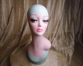 hand painted mannequin head for hat wig and collection