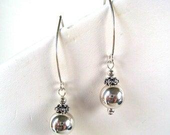 Sterling Silver Earrings, Solid Sterling Dangle Earrings, New Long Wires