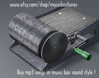 mp3 Silent night, hand crank music box Christmas Mp3 tune. A nice gift idea to friends and loved ones. Instant Download !
