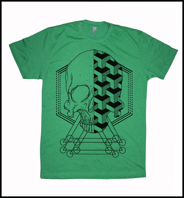 Men's GEOSKULL T-shirt Sacred Geometry Dotwork Linework