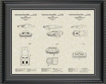 Corvettes Patent Collection Print Gift PCORV2024