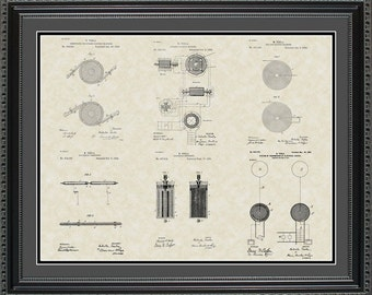 Nikola Tesla Patent Collection Print Gift PTESL2024