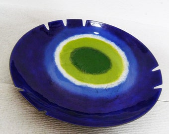 Mid-Century Curtis Jere Ashtray Turkish Eye Good Luck Vintage Bowl Tray