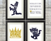 Where The Wild Things Are Print - Set of 4 8x10 Prints