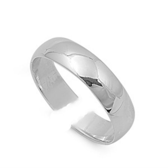 6mm sterling silver plain wedding band midi above the knuckle