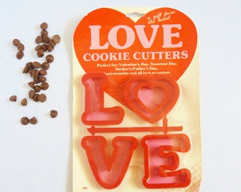 Vintage 1980s LOVE Cookie Cutters