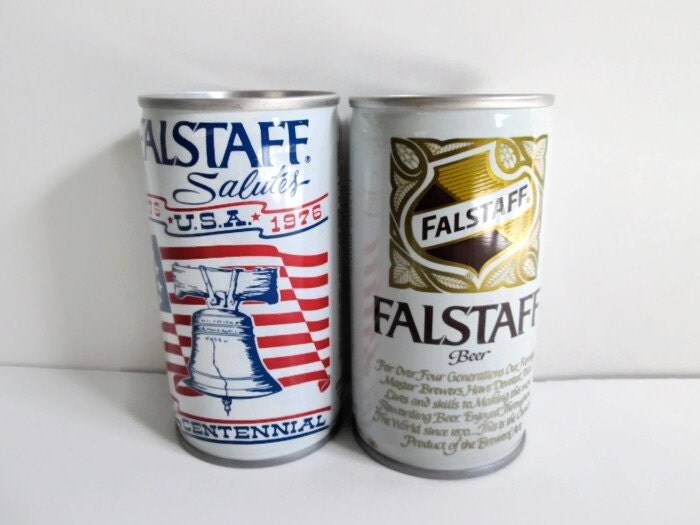 Vintage Falstaff Beer Cans 1970s 12 oz Bi by jpjcandyland ...