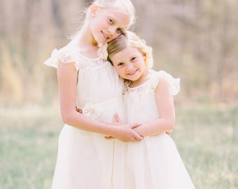 The original Charlotte - flower girl dress ivory, lace toddler dress made for girls ages 1t, 2t, 3t, 4t, 5t, 6, 7, 8, 9/10