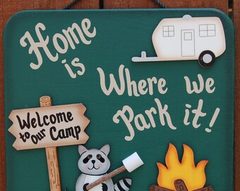 Outdoor Camping Sign - RV Sign