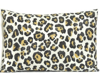 Leopard Pillow, Decorative Pillows, 12x18 Pillow Cover, Cushion Cover, Toss Pillow Covers, Lumbar Pillow, Paramount Shadow