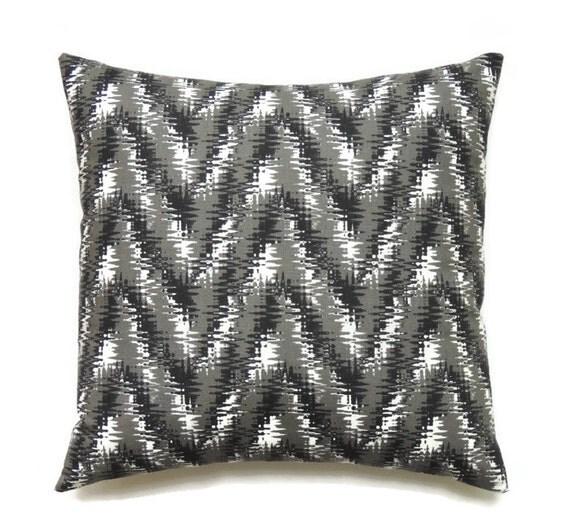 Decorative Pillow Black : Black Pillows 18x18 Pillow Cover Decorative Pillow Chevron