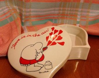 "Tom Wilson's ""Ziggy"" Heart Trinket Box"