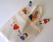Theme bags for toys, handpainted