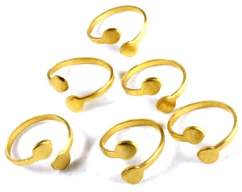 2x Brass Circle Wrap Ring - J009