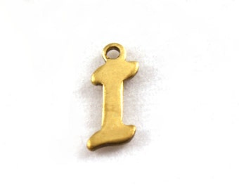 "5x Letter ""I"" Brass Initial Charms - M071-I"