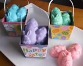 Mini Easter Basket Gifts - Easter Soap, Easter Basket Filler, Easter Eggs, Easter Bunny, Easter Gift for Kids - Set of 3