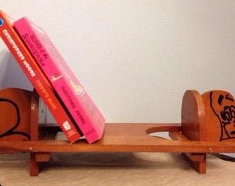 Vintage children's bookshelf, dog, handmade