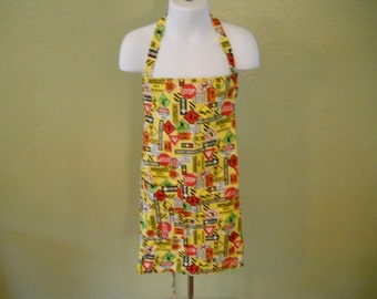Children's Construction Craft Apron