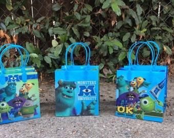 12 Monster University -Birthday Party Favor Bags