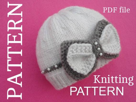 Baby Hat P A T T E R N Knitting Baby Hat Baby Patterns
