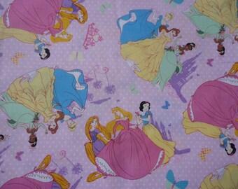 "1/2 yard of 100% cotton ""Princesses"" Fabric"