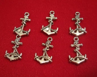 """BULK! 30pc """"anchor"""" charms in antique silver style (BC92B)"""