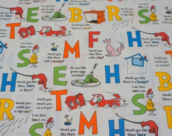 Weighted Blanket  * Dr Seuss Green Eggs and Ham and Minky