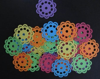 30 Large Embroidery/Medallion Martha Stewart Diecuts,6 Tropical Cardstock Colours, Scrapbooking, Cardmaking, Paper Crafts, Party Decorations