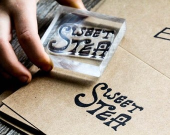 Sweet Tea Stamp - Southern Rubber Stamp - Sweet Tea Rubber Stamp